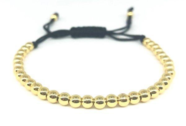 Arany gyöngysor állítható karkötő