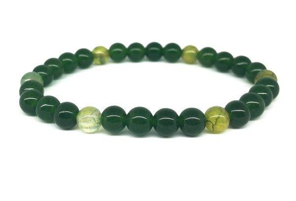 Zöld mohaachát ásvány karkötő