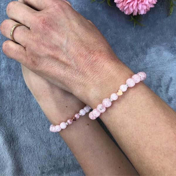 Anya lánya rosegold karkötő szett